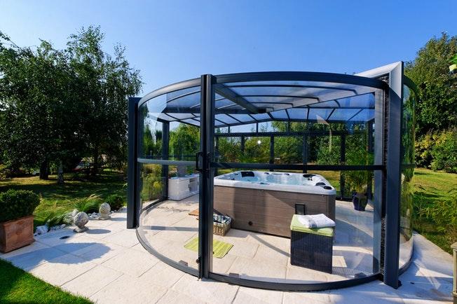 abri piscine 71. Black Bedroom Furniture Sets. Home Design Ideas