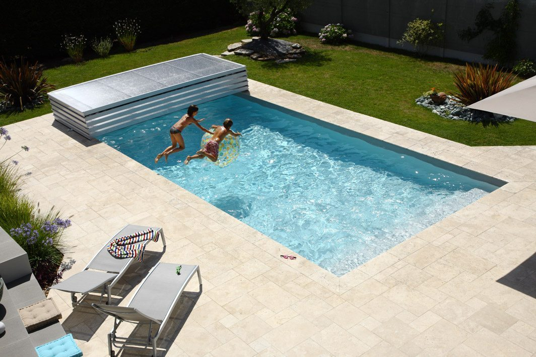 abri piscine bas motorise