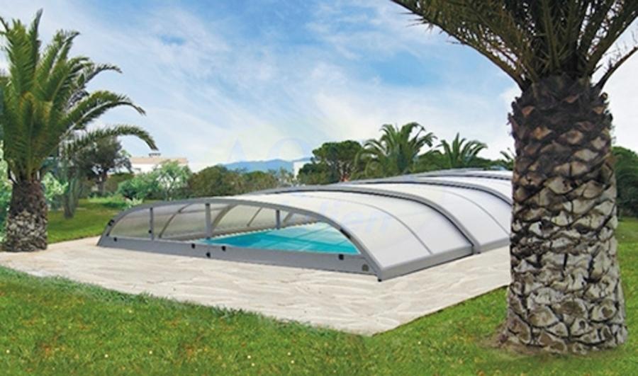 abri piscine bas sans rail