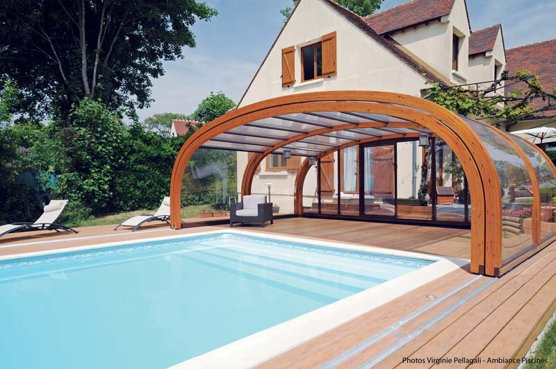 abri piscine bois coulissant. Black Bedroom Furniture Sets. Home Design Ideas