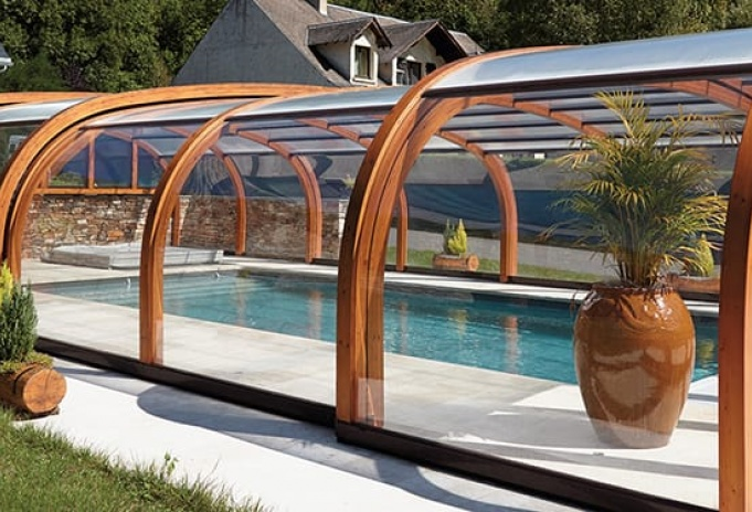 abri piscine bois
