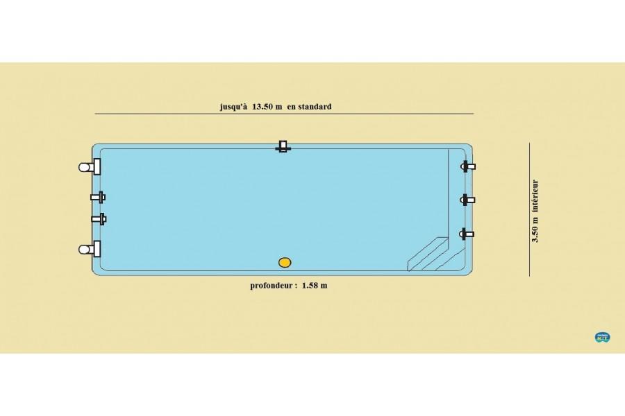 abri piscine couloir de nage