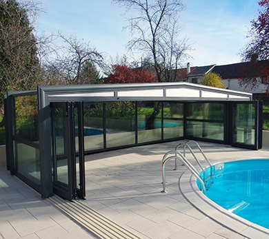 abri piscine double vitrage