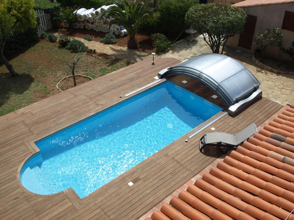 abri piscine electrique