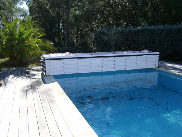 abri piscine empilable