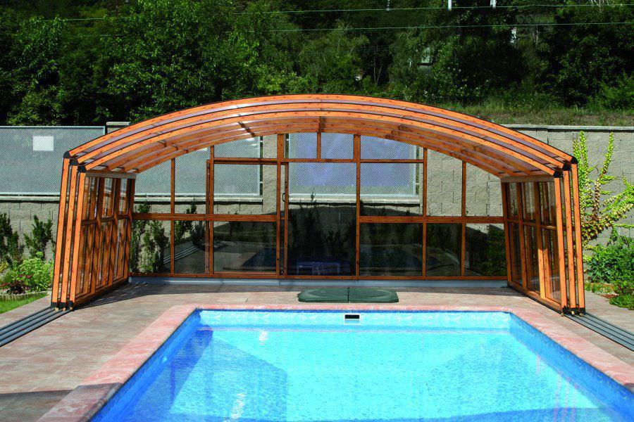 abri piscine en bois kit. Black Bedroom Furniture Sets. Home Design Ideas