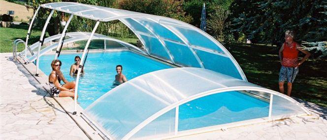 abri piscine escamotable