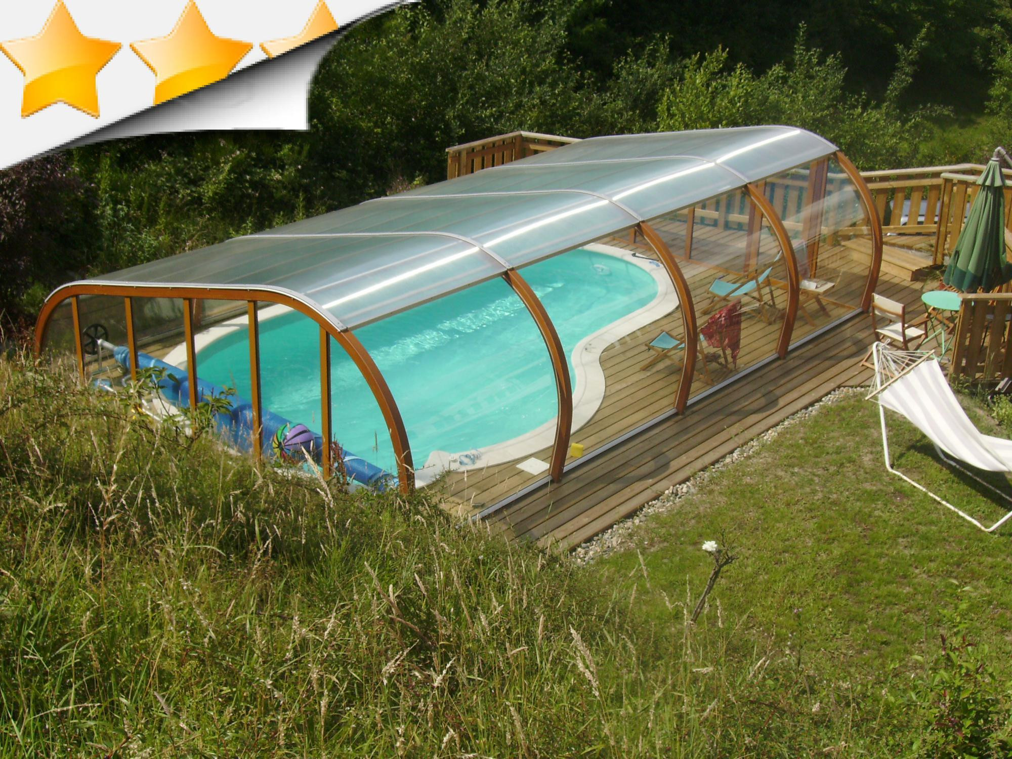 abri piscine fabrication maison