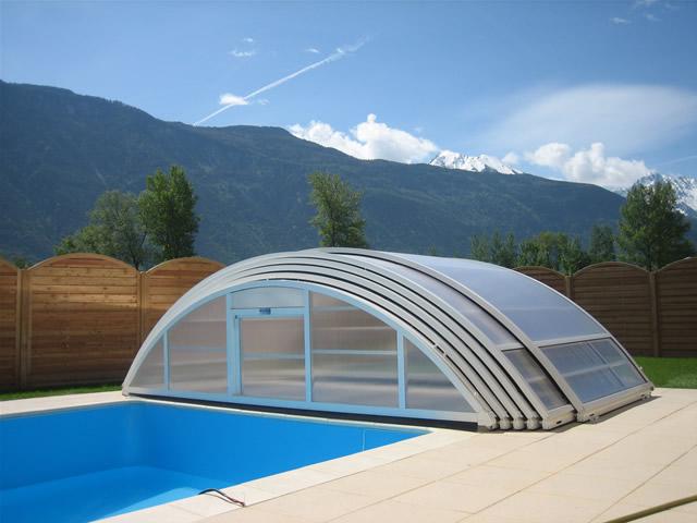 abri piscine haut telescopique