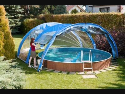 abri piscine hors sol ronde