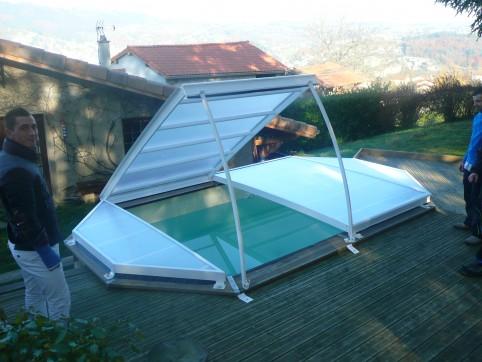 abri piscine octogonale hors sol