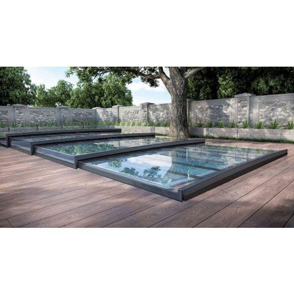 abri piscine plat amovible