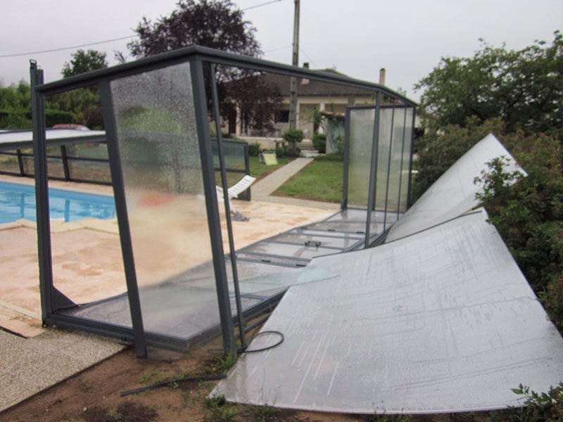 abri piscine reparation