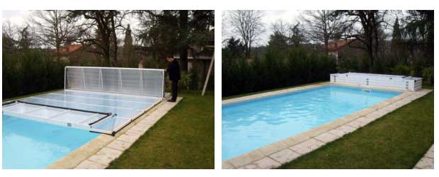 abri piscine repliable