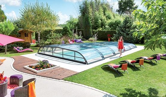 abri piscine rideau 85150