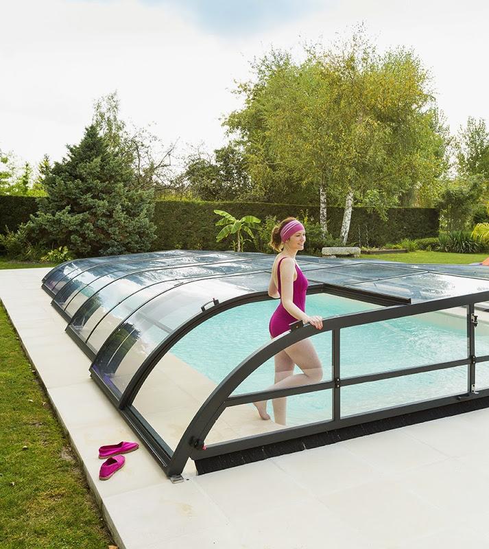 abri piscine rideau