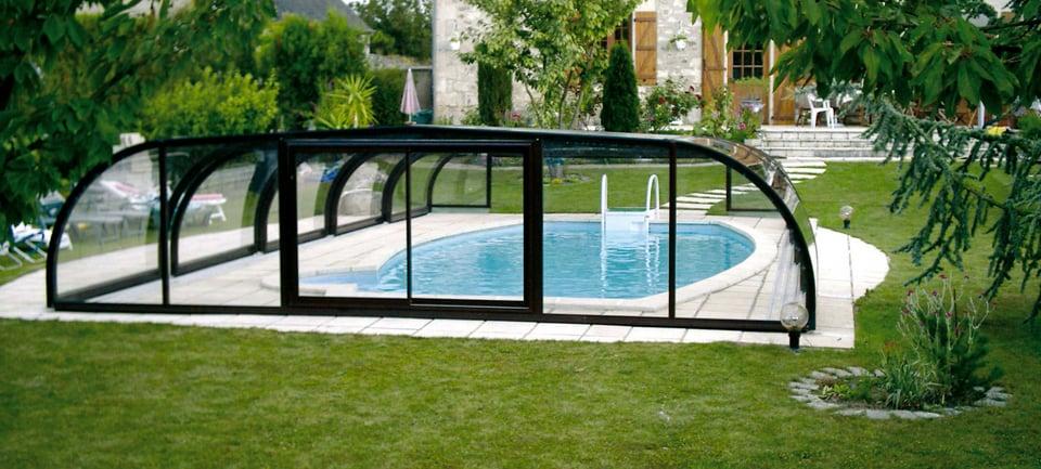abri piscine semi haut