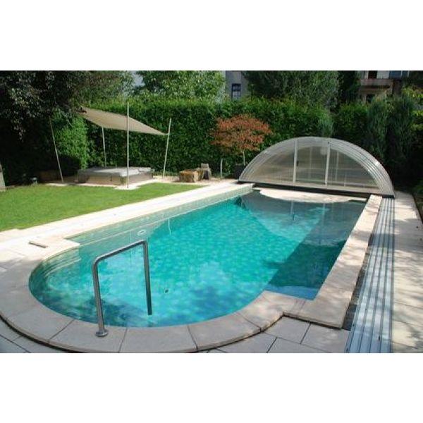 abri piscine sur margelle
