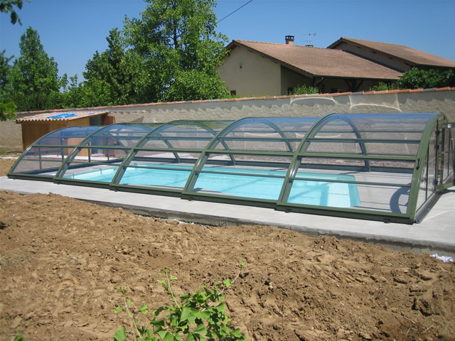 abri piscine transparent