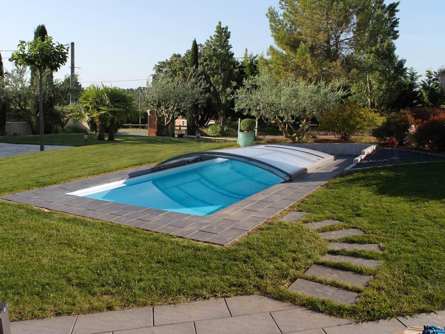 abri piscine ultra bas