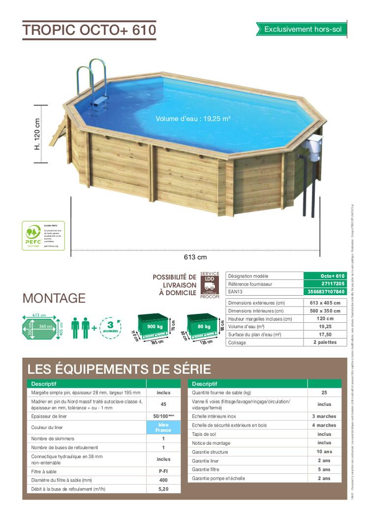 bache piscine 7.30