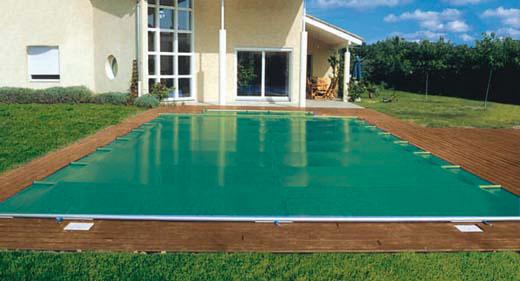 bache piscine a barre electrique