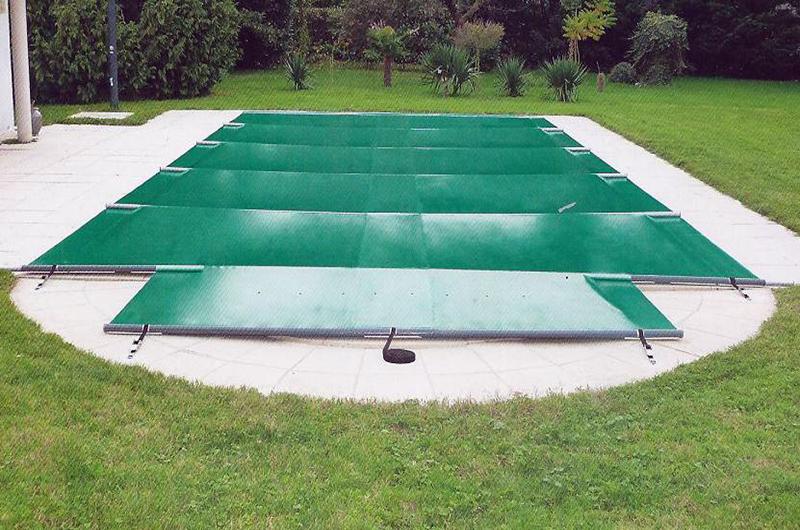 bache piscine a barre pas cher