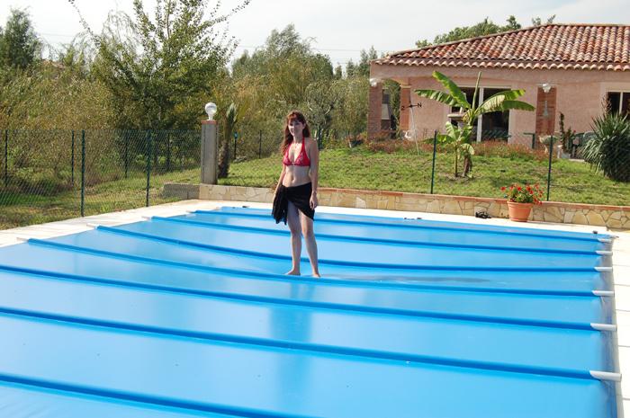 bache piscine a barre sur mesure