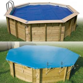 bache piscine bois