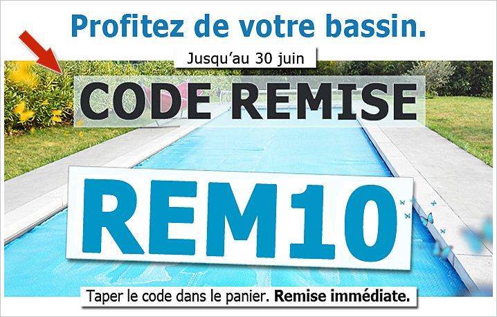bache piscine code promo