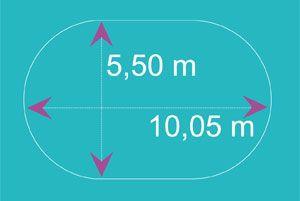 bache piscine diametre 5.50
