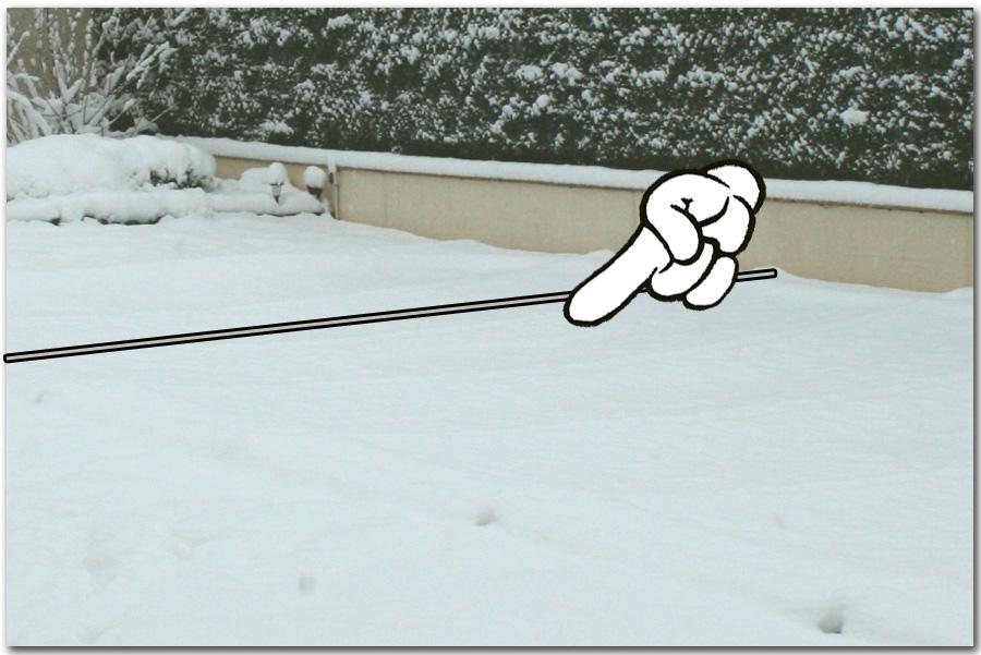 bache piscine et neige