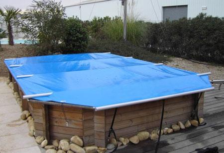 bache piscine ete hors sol