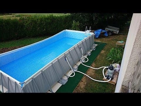 bache piscine intex 7.32