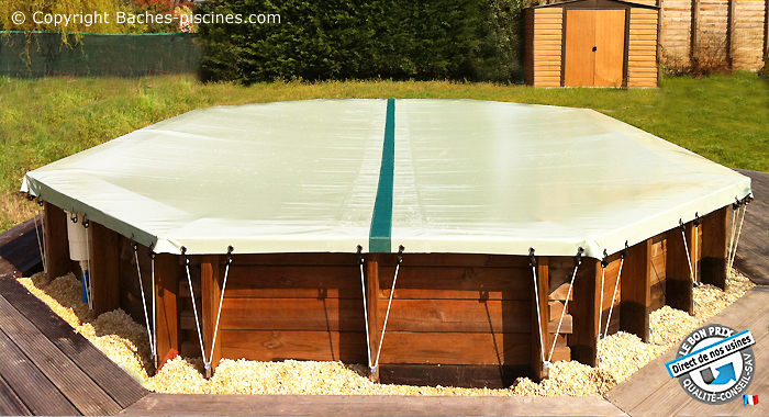 bache piscine octogonale