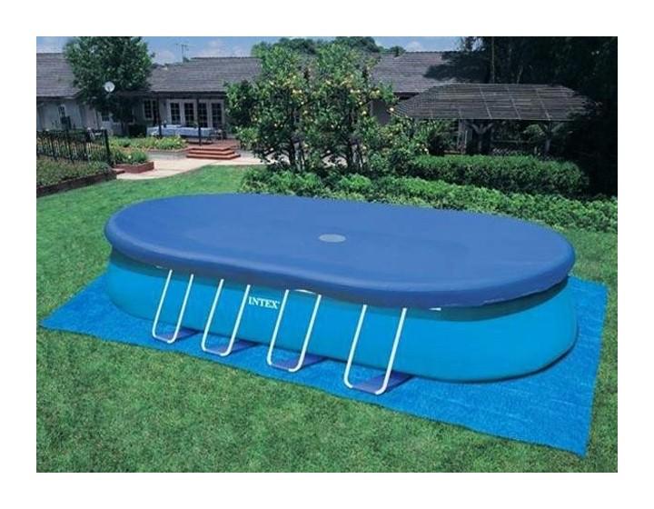 bache piscine ovale intex
