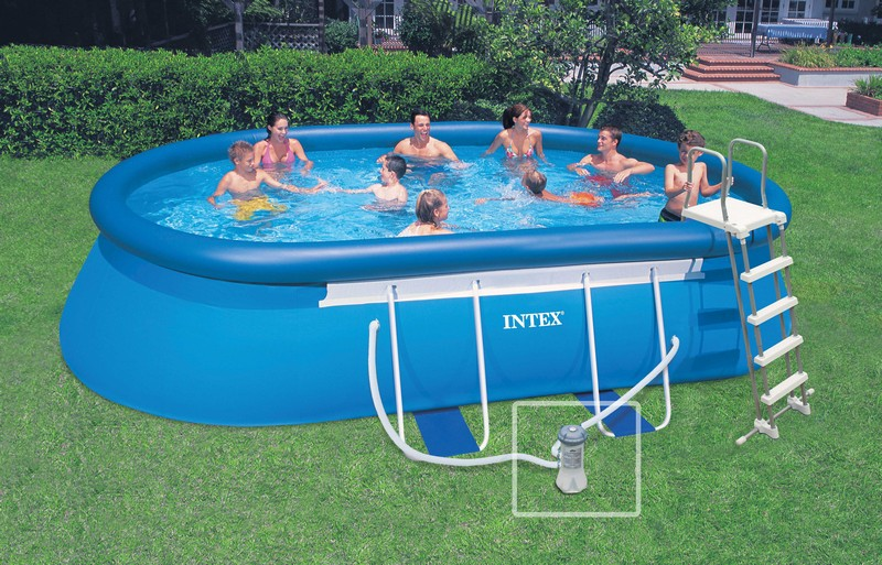 bache piscine ovale intex