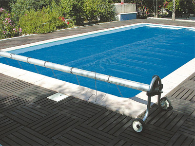 bache piscine qui chauffe