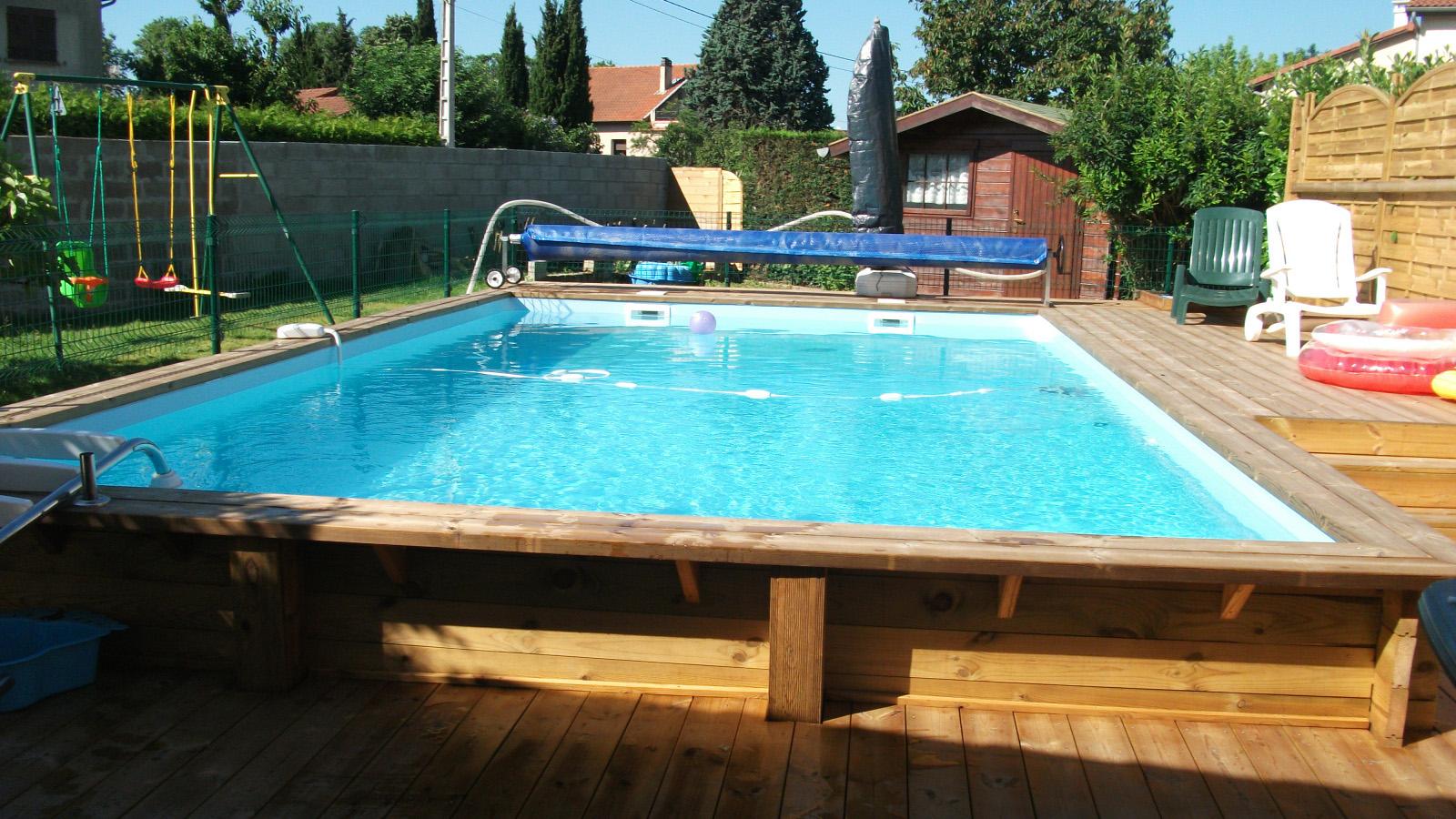 Bache piscine semi enterree - Prix piscine en bois semi enterree ...