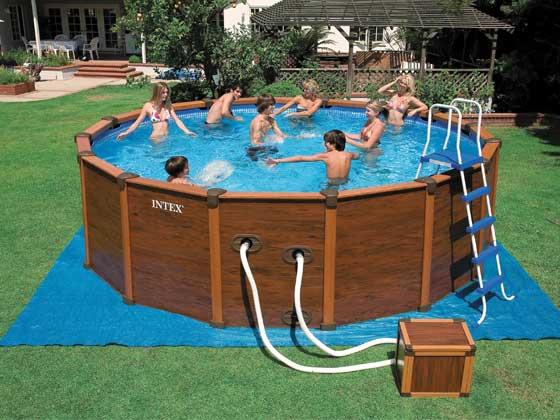 bache piscine sequoia intex