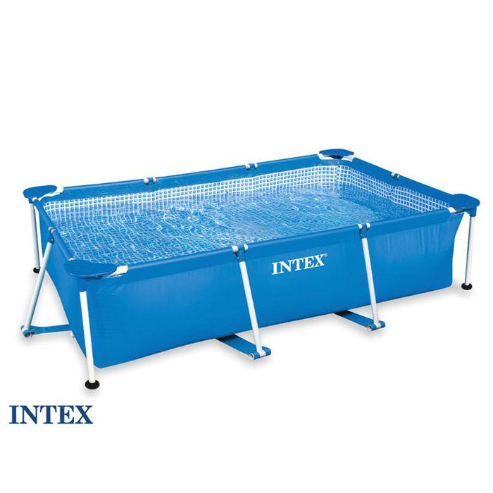 bache piscine tubulaire rectangulaire intex
