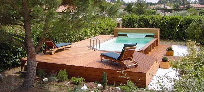 bache piscine wood line