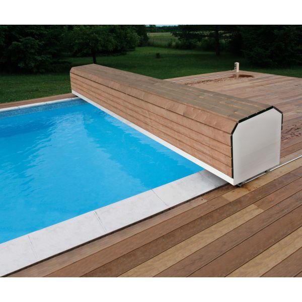 volet piscine banc
