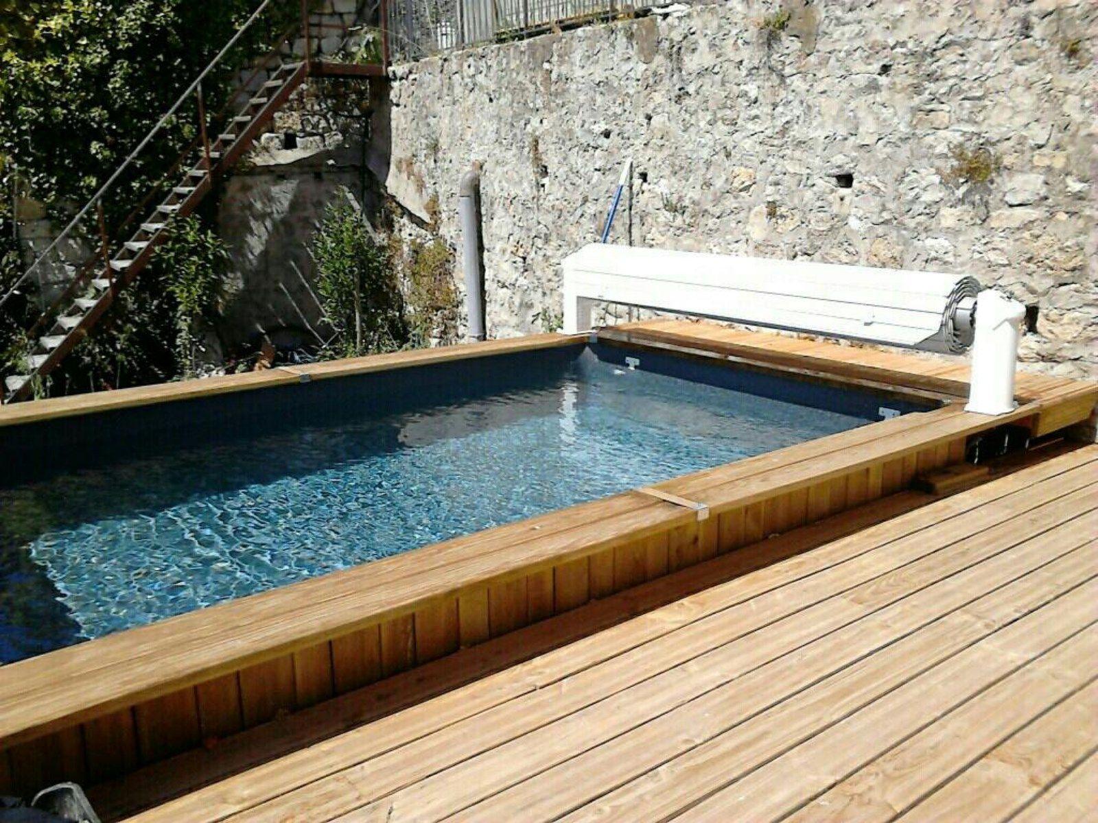 volet piscine bois