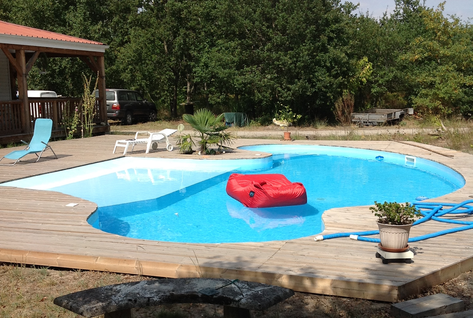 volet piscine forme libre