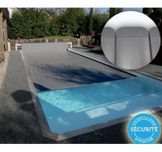 volet piscine gris anthracite