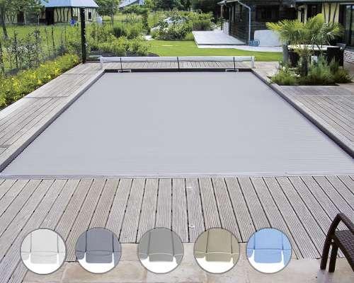 volet piscine gris clair
