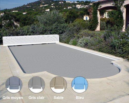 volet piscine gris