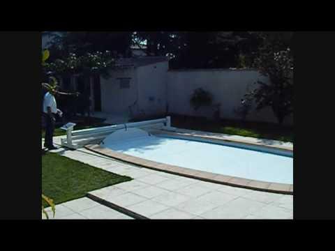 volet piscine ovoide