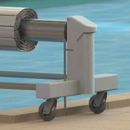 volet piscine sur roue